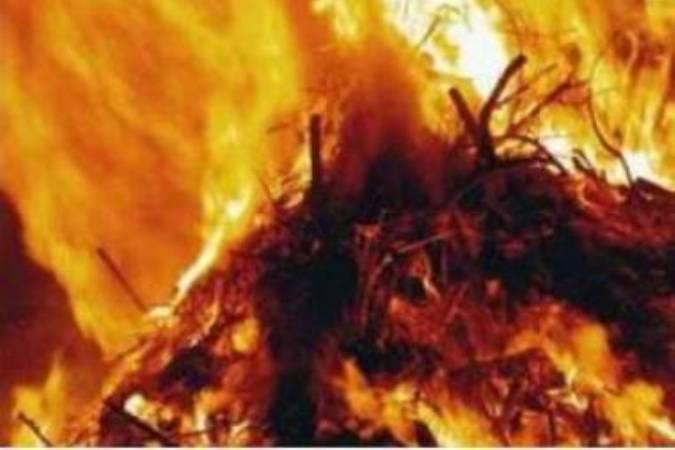Пожар  в деревне Липовка, Рославльский район