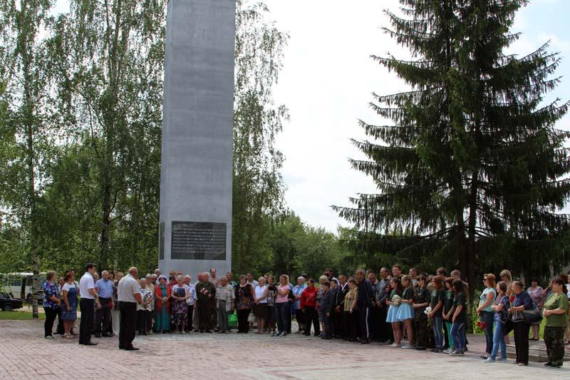Митинг у мемориала в Пригорье