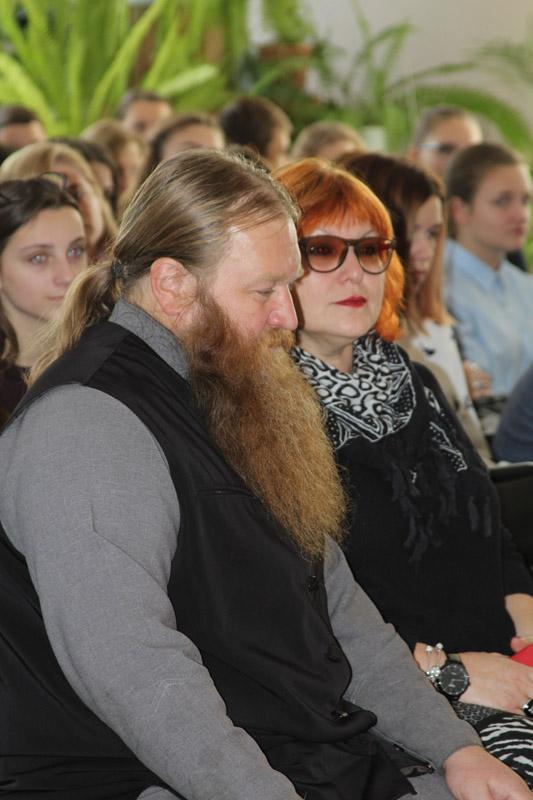 Игумен Хрисанф и профессор Лариса Павлова