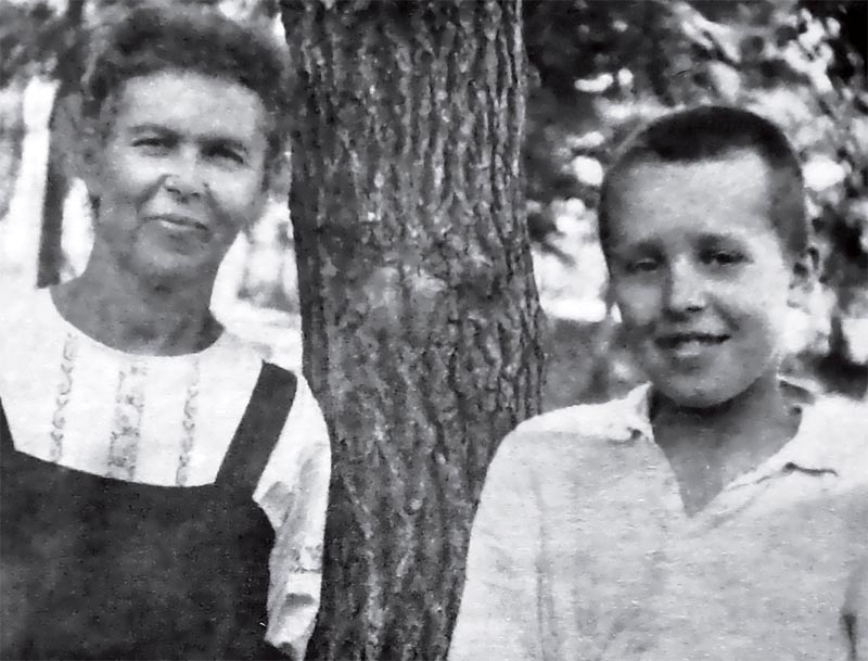 Николай с мамой в Москве, 1946 год