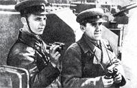 Майор Д.Д. Цилицкий (слева) и капитан И.И. Немазанников
