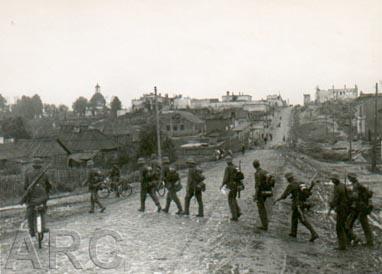 Вход немцев в Рославль 3 августа 1941 года
