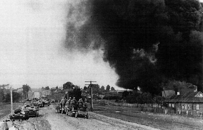 Вход немцев в рославль 3 августа 1941 г.