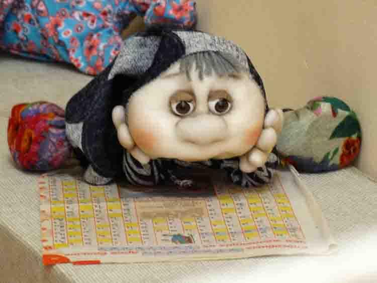Кукла «Читающий гном»